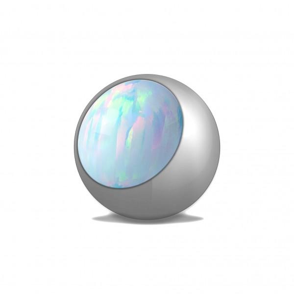 Schraubkugel aus Chirurgenstahl mit Synthetik Opal
